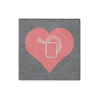 Watering Flowers Pictogram Stone Magnet