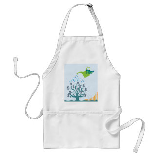 Watering Money Tree Adult Apron