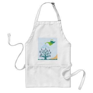 Watering Money Tree Adult Apron