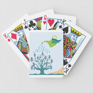 Watering Money Tree Bicycle Playing Cards