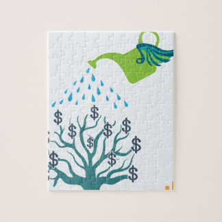 Watering Money Tree Jigsaw Puzzle