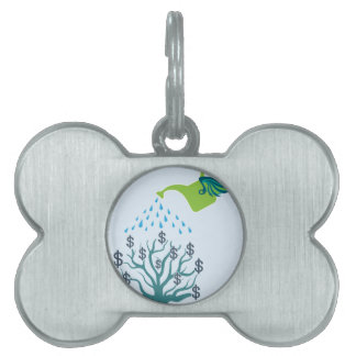 Watering Money Tree Pet Name Tag