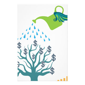 Watering Money Tree Stationery