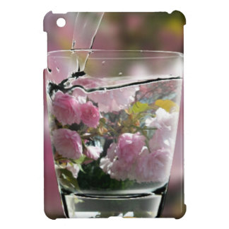 Watering Pink Flowers In A Glass iPad Mini Cover