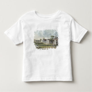 Watering tea plants (w/c on paper) toddler t-shirt