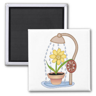 Watering Time! 2 Inch Square Magnet