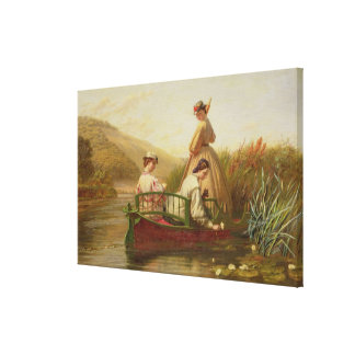 Waterlilies, 1864 (oil on canvas) gallery wrap canvas