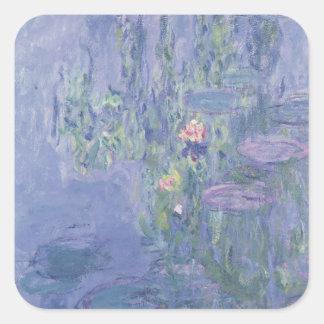 Waterlilies 1907 aceite en lona calcomanías cuadradas
