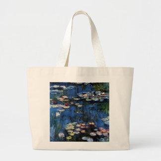 Waterlilies; 1914 bolsa tela grande
