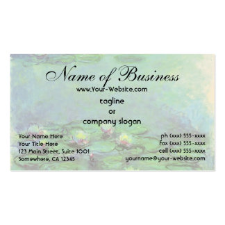 Waterlilies (1914) by Claude Monet Double-Sided Standard Business Cards (Pack Of 100)