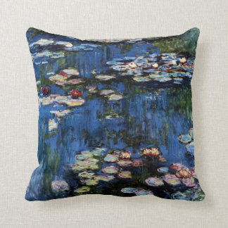 Waterlilies; 1914 throw pillow
