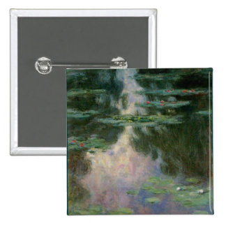 WATERLILIES 1 2 INCH SQUARE BUTTON