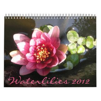 Waterlilies 2012, página doble calendarios