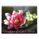 Waterlilies 2012, página doble calendarios