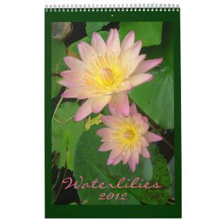 Waterlilies 2012, sola página calendario de pared