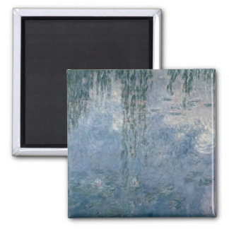 Waterlilies 2 2 inch square magnet
