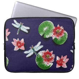 Waterlilies and Dragonflies Laptop Sleeve