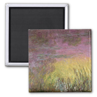 Waterlilies at Sunset, 1915-26 2 Inch Square Magnet