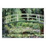 Waterlilies blanco, 1899 tarjeta de felicitación