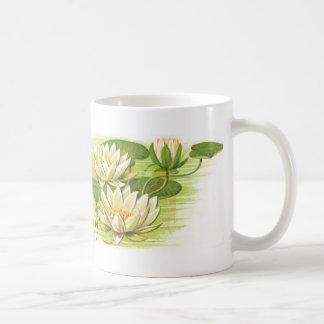 Waterlilies blanco taza de café