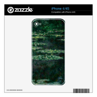 Waterlilies by Claude Monet iPhone 4S Decal