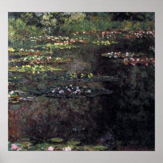 Waterlilies by Claude Monet, Vintage Fine Art Poster