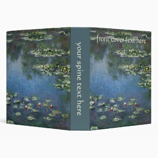 Waterlilies by Claude Monet, Vintage Flowers Binder