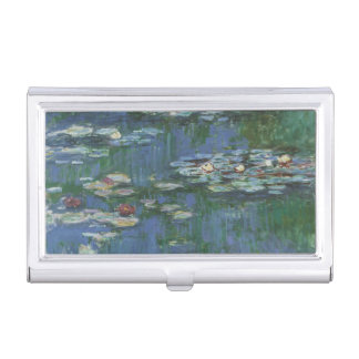 Waterlilies by Claude Monet, Vintage Flowers Business Card Holder