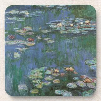 Waterlilies by Claude Monet, Vintage Flowers Coaster