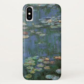 Waterlilies by Claude Monet, Vintage Flowers iPhone X Case