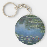 Waterlilies by Claude Monet, Vintage Flowers Keychain
