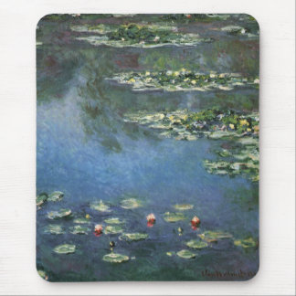 Waterlilies by Claude Monet, Vintage Flowers Mouse Pad