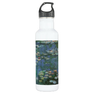 Waterlilies by Claude Monet, Vintage Flowers Stainless Steel Water Bottle
