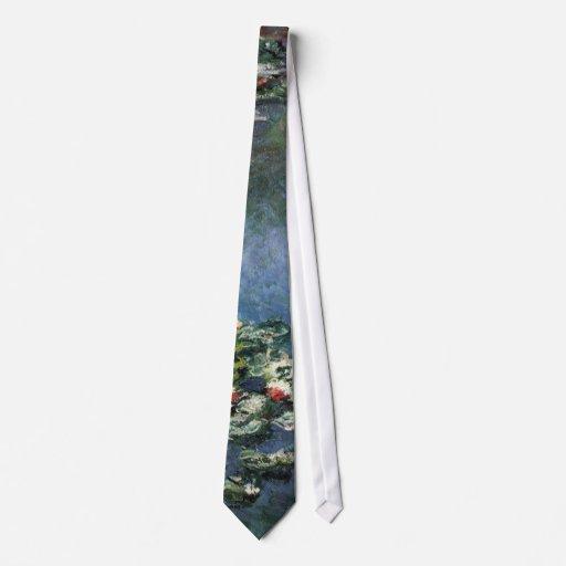 Waterlilies by Claude Monet, Vintage Flowers Tie