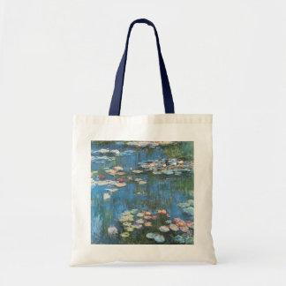 Waterlilies by Claude Monet, Vintage Impressionism Budget Tote Bag
