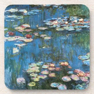 Waterlilies by Claude Monet, Vintage Impressionism Beverage Coaster