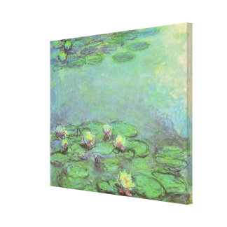 Waterlilies by Claude Monet, Vintage Impressionism Canvas Print