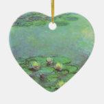 Waterlilies by Claude Monet, Vintage Impressionism Ceramic Ornament