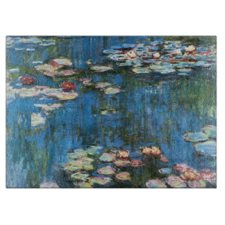 Waterlilies by Claude Monet, Vintage Impressionism Cutting Board