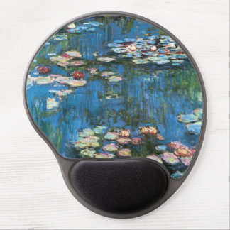 Waterlilies by Claude Monet, Vintage Impressionism Gel Mouse Pad