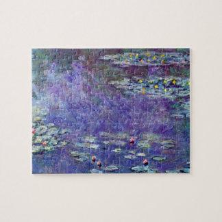 Waterlilies by Claude Monet, Vintage Impressionism Jigsaw Puzzle
