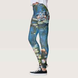 Waterlilies by Claude Monet, Vintage Impressionism Leggings