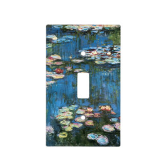Waterlilies by Claude Monet, Vintage Impressionism Light Switch Cover