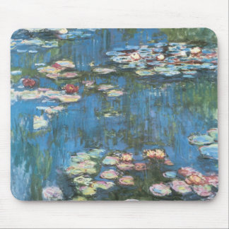 Waterlilies by Claude Monet, Vintage Impressionism Mouse Pad