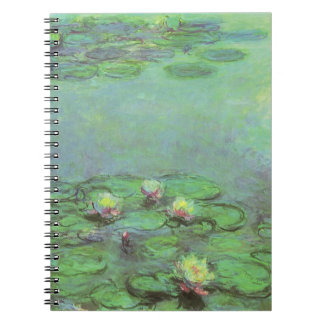 Waterlilies by Claude Monet, Vintage Impressionism Notebook