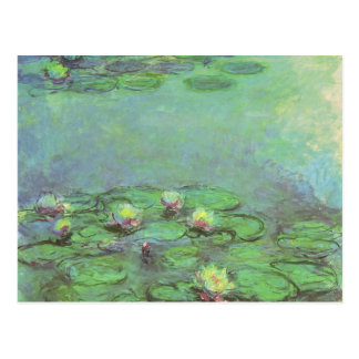 Waterlilies by Claude Monet, Vintage Impressionism Postcard
