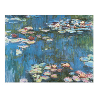 Waterlilies by Claude Monet, Vintage Impressionism Post Cards