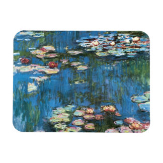 Waterlilies by Claude Monet, Vintage Impressionism Rectangular Photo Magnet