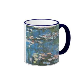 Waterlilies by Claude Monet, Vintage Impressionism Ringer Mug