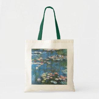 Waterlilies by Claude Monet, Vintage Impressionism Tote Bag
